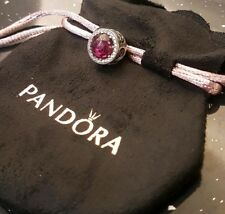 Authentic Pandora Disney Belle's Radiant Rose Charm 792140NCC (Pouch Included)