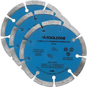 "Diamond Cutting Disc Blade 4.5"" Segmented masonry angle grinder Disc Blade X 3"