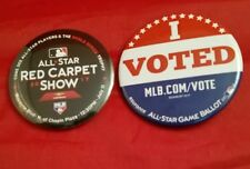 2017 MLB ALL STAR GAME BUTTONS / PINS RED CARPET SHOW & I VOTED JULY 11 MIAMI FL