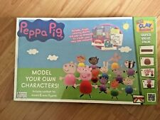 BNIB New Peppa Pig Model Your Own Characters Craft Kit - Mould 6 Mini Figures