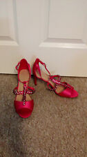 BNWT Marks & Spencer M&S Ladies Fuchsia Pink Peep Toe Stiletto Shoes UK 6 Party