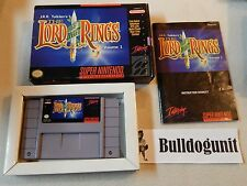 The Lord of the Rings Volume Vol 1 SNES Super Nintendo Complete Game Box Manual