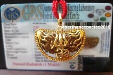 1 Mukhi ek Rudraksha One Face Rudraksh Aum Om Trishul pendant AA++ Lab Certified