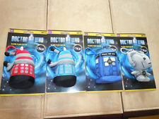 Lot of 4 Underground Toys Doctor Who Mini Talking Plush Action Figures. NEW!