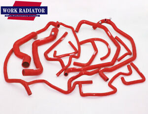 Red radiator silicone hose for Renault 5 R5 GT Turbo 1.4L PHASE 1 1985-1987 1986