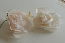 2pcs Gorgeous Silk Flower,  Pin, Brooch for dress or suit pink, white used