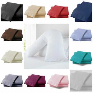 V Shaped Pillow Case Cover - Back Support Nursing Pregnancy Maternity Orthopedic