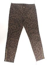 Louis Vuitton Leopard Print Brown Jeans F38 uk 10