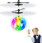 Flying Ball Toys, RC Toy Gifts for Kids, Rechargeable Light Up Ball Drone Infrar