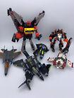 Lot of Six Transformers Toys- Noisemaze, Thundercracker, Nightcruze. Incomplete