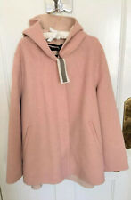 Ladies Zara Handmade Wool Coat In Pink With Hood XL BNWT RRP£89.99 LAST ONE