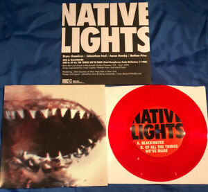 """Native Lights - s/t 7"""" Red Colored Vinyl Record(UNWED SAILOR, ESTER DRANG)"""