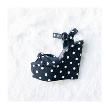 Dolce & Gabbana Polka Dot Wedge Sandals sz36.5