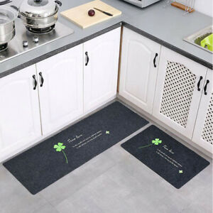 2Pcs/Set Kitchen Mat Long Carpet Absorbent Doormat Tapete