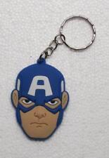 Avengers CAPTAIN AMERICA Rubber KEY CHAIN Ring Keychain NEW