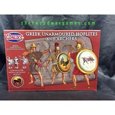 28mm Unarmoured Hoplites And Bowmen By Victrix, Hail Caesar, Swordpoint Ancients
