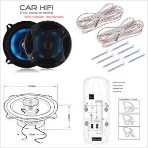 2Pcs 5Inch 150W 3 Way Car Coaxial Horn Hifi Stereo Audio Sound Music Loudspeaker
