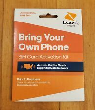 Boost Mobile Bring Your Own Phone Sim Card Activation Kit Free Shipping!