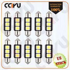10X Xenon White Canbus Error Free LED License Plate Lights 6418 C5W 36mm Festoon