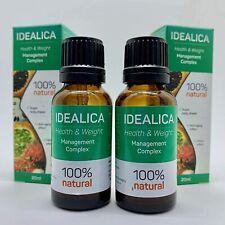 2 x IDEALICA - para una figura ideal -100% Natural Sliming Drops.