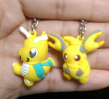 2pcs Pokemon Pikachu PVC Figure with Key Ring Chain Pendant Keychain toy Gift