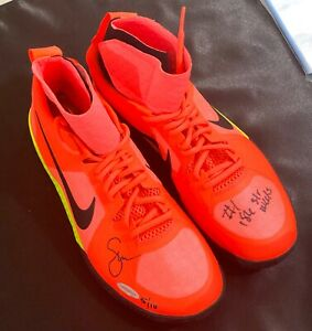 Upper Deck Serena Williams Autographed & Inscribed Pink NIKE Flare Shoes #5/10!!