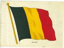 Vintage Tobacco Silk Flag of Belguim Fine Condition