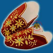 Orthodox SacredVotive Slippers Velvet Gold Thread Embroidery St. Spyridon Shoes