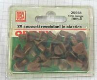 Oreca Supporti Reggipiani Corpo in plastica marrone Cod. 25558 mm 6 Conf. 20 New