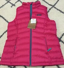 Girls Patagonia Down Sweater Vest Pink XXL 16-18 Youth/Kids