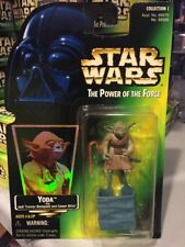 New Yoda Jedi Master Star Wars POTF2 Power Of The Force 1997 MOC With Holo .03
