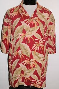 TOMMY BAHAMA Mens Large L 100%Silk Button-up shirt Combined ship Discount