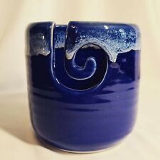 RARE Healing Touch Pottery Signed Blue Glazed Vase - AS IS