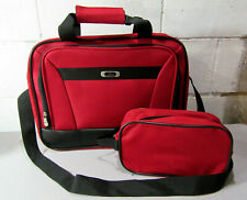 Skyway Red Travel Bag Carry-On Plus Matching Cosmetic Bag