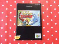Pokemon Stadium 2 Nintendo 64 N64 nur Anleitung NUS-P-NP3D-NNOE