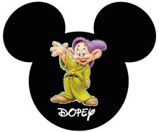 DISNEY MICKY MOUSE SEVEN DWARFS DOPEY T-SHIRT IRON ON TRANSFER