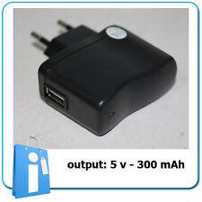 Alimentador Cargador USB Telefono Movil & Pequeños dispositivos OUT: 5V 300 mAh
