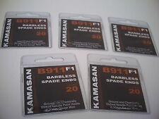 50 x NEW Kamasan B911 F1  Barbless Spade End Hooks Size 20. Perfect for Pellets
