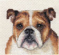 ENGLISH BULLDOG ~ Full counted cross stitch kit + All materials