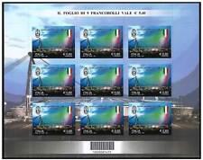 Italia 2012 Hoja bloque Juventus Muestra de Italia con el código de barras MNH