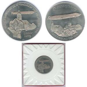 Old East German Medal anlässlich 70 Jahre Zeppelin Erzgebirgsfahrt 1913-1983 UNC