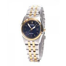 Citizen Eco Drive EW2294-53L Ladies Stainless Two Tone Blue Dial Corso Watch