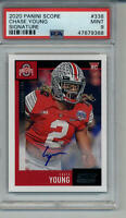 2020 CHASE YOUNG SCORE PSA 9 MINT GRADED ROOKIE CARD AUTO OHIO STATE BUCKEYES