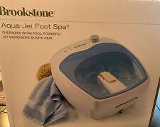 Brookstone Heated Aqua-Jet Foot Spa Heated Oversize Whirlpool Soak Machine