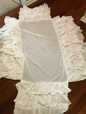 Pottery Barn Kids White Ruffled Crib Skirt