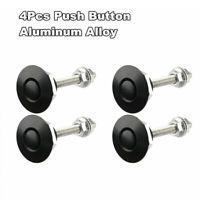 4* Aluminum Quick Release Latch Universal Push Button Low Profile Hood Pins Lock