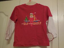 NEW Elf on the Shelf Shirt Red White Long Sleeve Christmas Size18M INFANT BOY