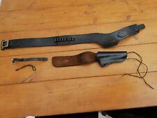 More details for western black sheen leather holster/ full rig with kolser colt frontier saa