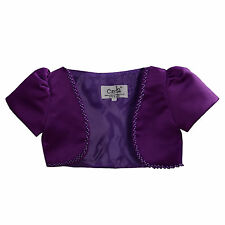 New Girls Purple Satin Bolero 5-6 Years