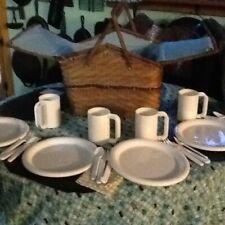 Antique picnic basket